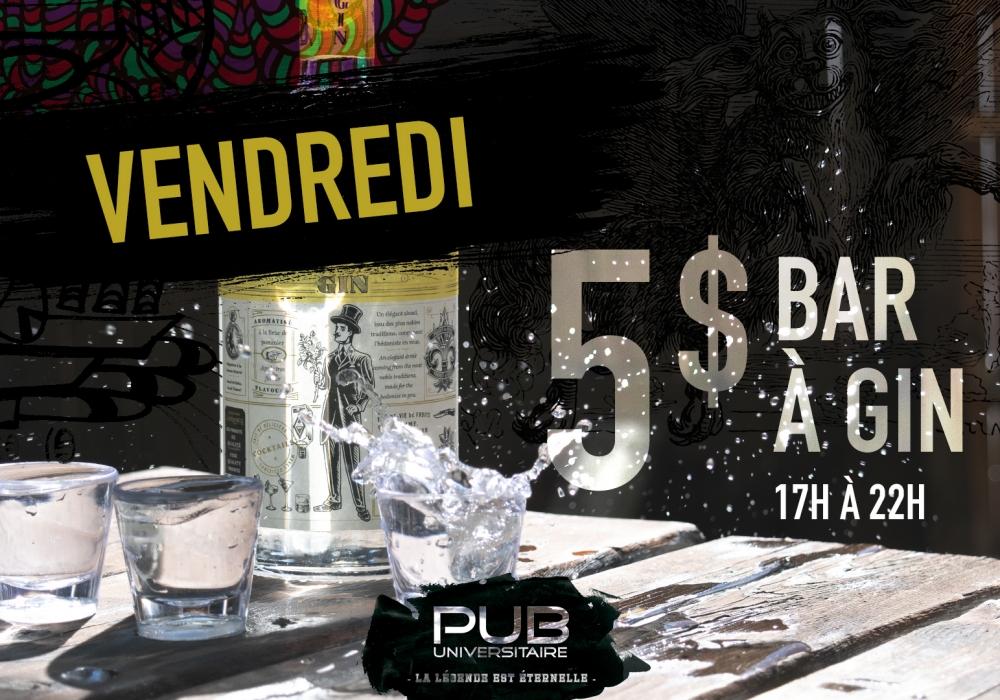5$ bar à gin